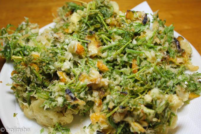 ニンジン葉のかき揚げは、何でこんなに美味しいのだろう!