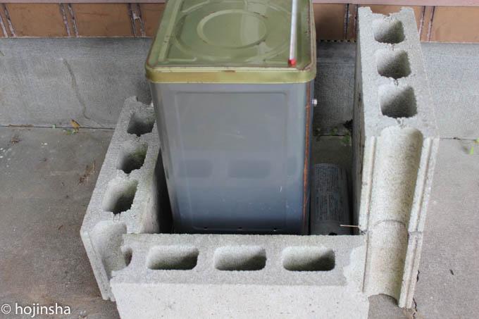 一斗缶スモーカー(燻製器)の作り方、製作時間は10分で簡単に作れます