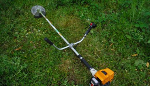 早朝から草刈り、刈り払い機を新調