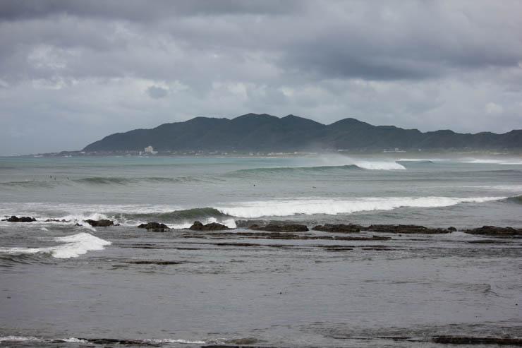 2016年台風10号 鴨川はクローズ、サーフィン可能な場所を探しに南下